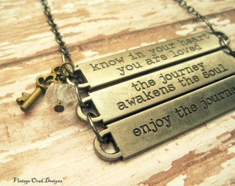 Graduation Gift, Inspirational Phrases Necklace, Graduation Necklace, Inspired Pendents, Graduation Gift, May trends