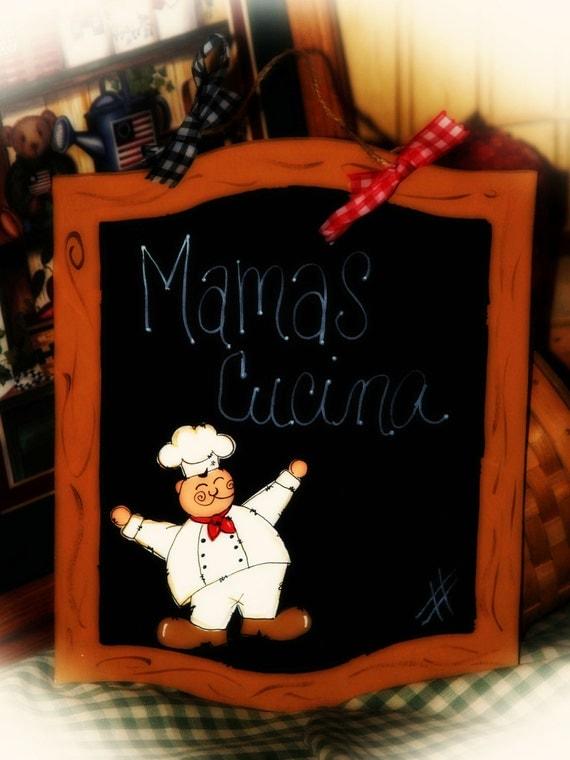 Fat Chef Personalized Cucina Chalkboard Bistro Kitchen Decor
