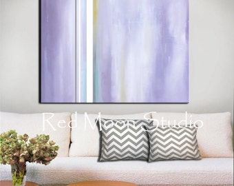 Abstract Art - Shipping Included - Large 48x36 - Abstract Painting, Lavender Abstract Painting, Original Abstract Art on Canvas, Pastel