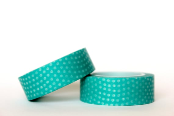 Teal Dots Washi Tape