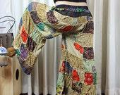 Wide Leg Cotton Quilt Pants