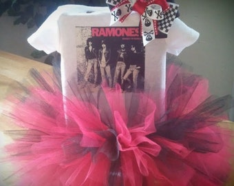 The Ramones inspired Punk Princess tutu outfit