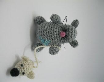"""Amigurumi Crochet Cat """"GREY"""""""