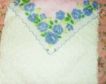 Chenille Pillow Vintage Handkerchief Envelope Style  PRICE SLASHED