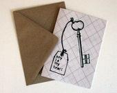 Vaelntine To My Heart Love Eco Friendly Art Greeting Card