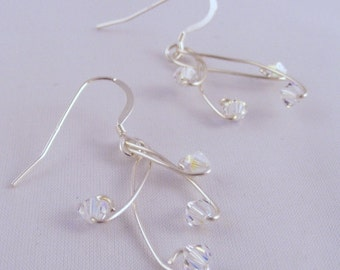 Sterling Silver and Swarovski Earrings by Arcturus Jewellery