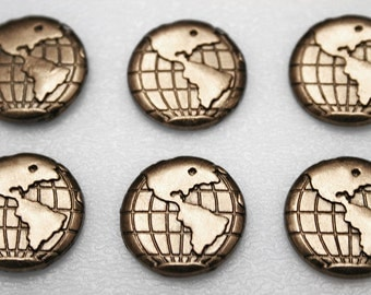 Push Pins or Magnets - Metal Globe