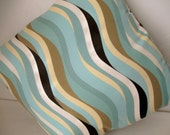 """SALE 50% OFF--Ocean Waves 20"""" Throw Pillow Cover"""