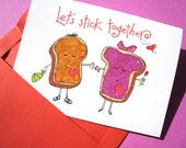 Funny I Love You Card - Anniversary Card - Valentine Card - Peanut Butter Jelly Card