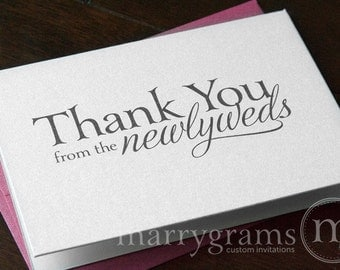 Wedding Thank You Cards from the Newlyweds... Wedding Thank You Notes - Thank You Notes from the Bride and Groom (Set of 10) CS08