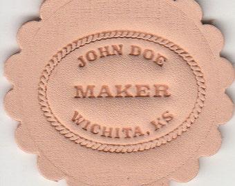Maker Stamp Leather Tool (custom logo embossing)