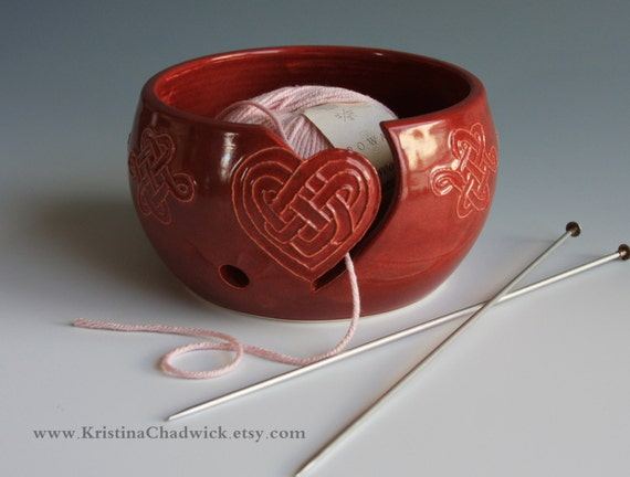 Yarn Bowl in Rust w/ Heart - Vogue Knitting LIVE NYC