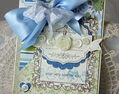 Shabby Chic Your Very Special Day Bee Blue handmade card
