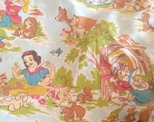 RESERVED Vintage Snow White bed sheet