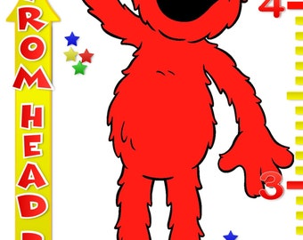 Elmo Personalized Custom Growth Chart banner