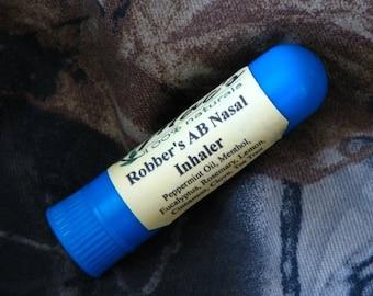 Mac's 100% Natural Robber's AB Nasal Inhaler, Chemical Free