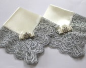 Mother of the bride and groom Handkerchief set Couture wedding hankie Custom handkerchief Mother card Gift Idea Lace Hankie Silver Wedding