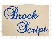 Brock Script Machine Embroidery Font Monogram Alphabet - 3 Sizes