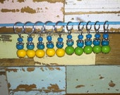 Upcycled wooden beads stitch marker 2 sets of 5 by Perfors Craft Products