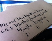 Envelope Calligraphy for Sarah O