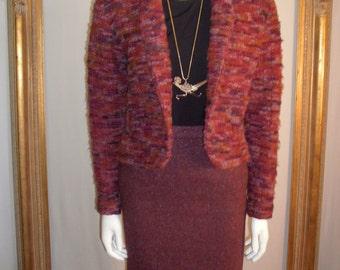 Vintage 3-Piece Purple Wool Suit Set - Size 6