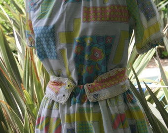 Two Piece Dress Skit Blouse Handmade Home Made outfit