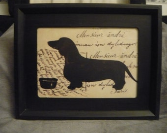 French themed Dachshund picture