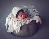 the Timeless : Newborn HAT - Newborn Photo Prop -  newborn knit hat, baby boy hat, maternity, photography