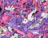 12oz. PRINCESS BLEND Gift Basket Shred, Crinkle Paper Filler Pink Purple & White (Free Shipping!)