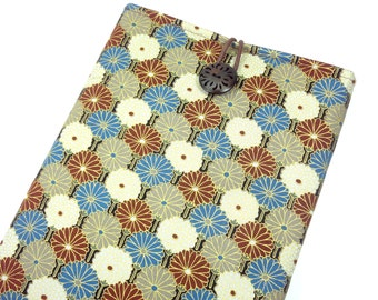 Kindle Case Sleeve for Kindle paper white Cover, Kobo Glo or other eReader - Kimono cotton fabric chrysanthemum