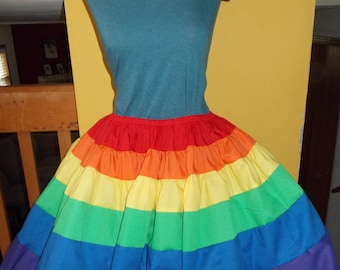 Custom Rainbow Petticoat Pettiskirt Adult