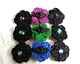 Bat Flower Barrette (choose color)