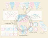 PDF Personalized and Custom Baby Gender Reveal Party Complete Package- Printable DIY