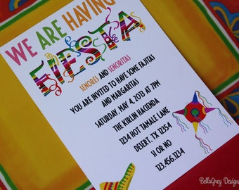 Cinco De Mayo Invitation | May 5th | Fiesta | PDF | Prinatable
