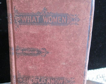 Vintage What every woman should know book