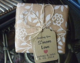 125 CUSTOM KRAFT PAPER Tags/ Gift Tags/Shower/Wedding Favor Tags/ Vintage Style Personalized-Thank You / Labels Hang Tags