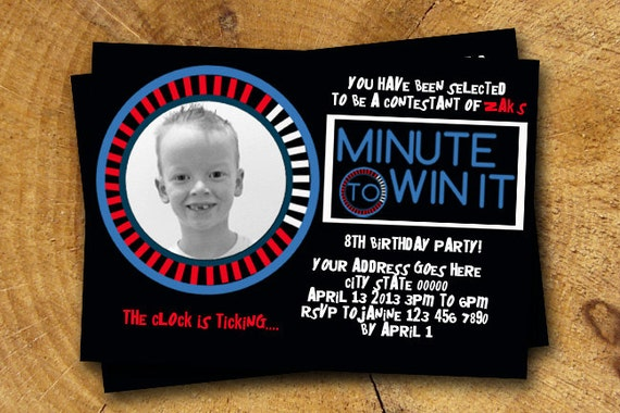 Minute To Win It Invitation Free Template Southernsoulblog Com