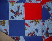 Transformers Throw Rag Quilt with Optimus Prime and Bumblebee  Ready to ship
