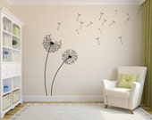DANDELION Vinyl Wall Decal Sticker, Flower / Floral, Self-Adhesive, Multiple Colors (product code: Flower D102)
