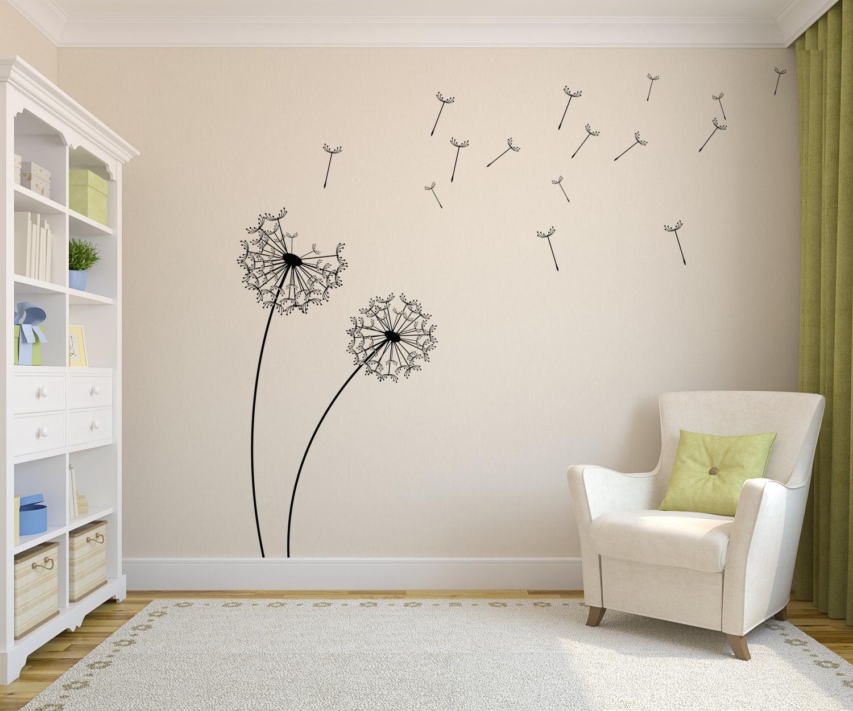 Dandelion Vinyl Wall Decal Sticker Flower By Globalprintfxs