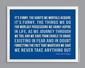 Custom Quote Print, Subway Art Poster (poem, inspirational quote, message, song lyrics) custom colors, blue