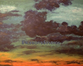 """Anger Management Cloud Painting (Print on canvas) 12""""x 16"""" Look for this print this Thursday on FX"""