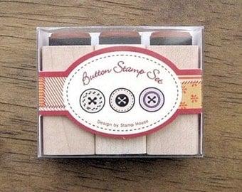 Mini Rubber Stamp Set(3EA)- Button