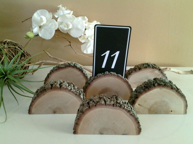 Treasury item oak tree place card holders wood