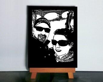 Custom Silhouette Paper Cutting Art - Handmade Paper Art