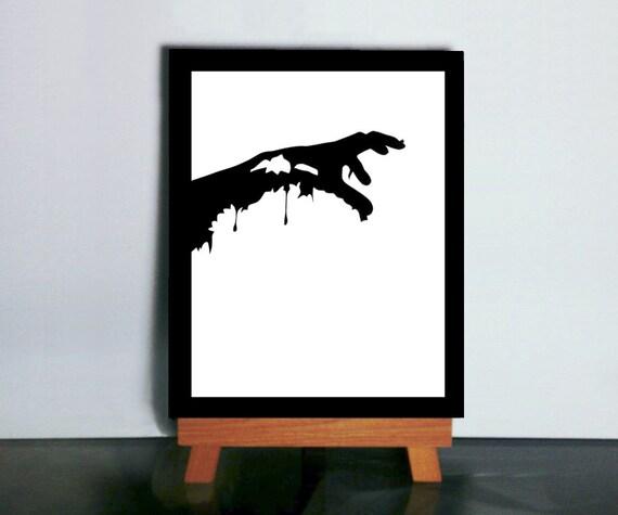 Zombie Silhouette Art, Paper Cutting Scherenshnitte Zombie Art