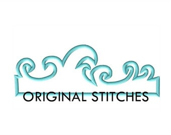 The FULL Wave Applique and Machine Embroidery Digital Design File 4x4 5x7 6x10