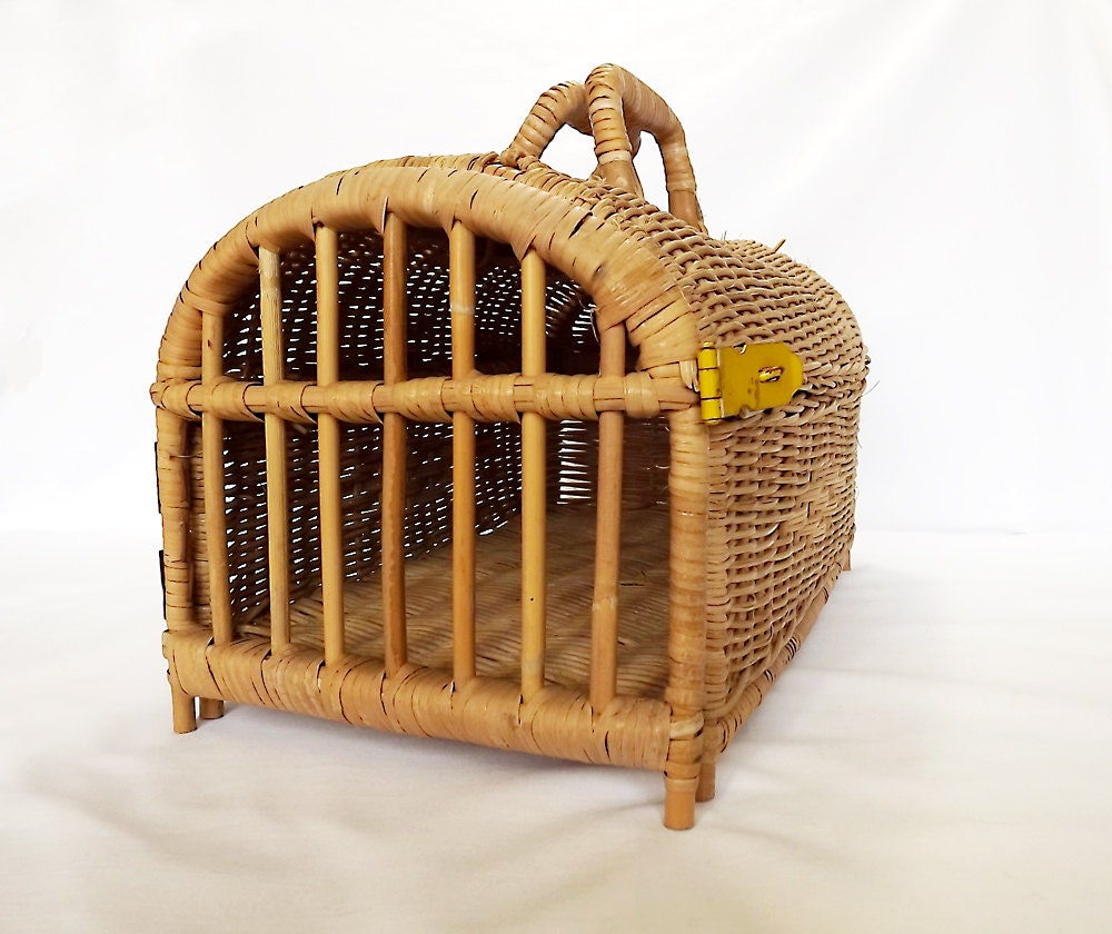 How To Weave A Cat Basket : Reserved for sheila woven wicker cat basket from by