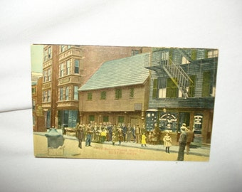 Boston, MA - Paul Revere House, North St  - 1900's Tinted POSTCARD