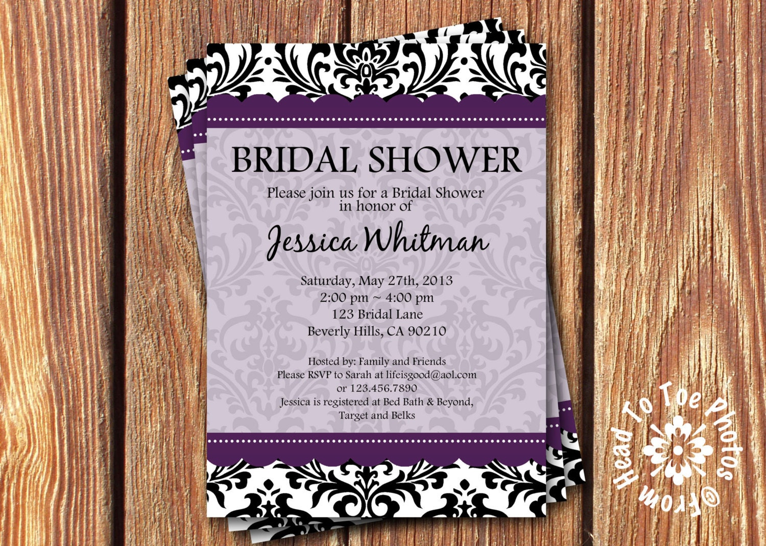 bridal shower invitations by fromheadtotoedesigns on etsy